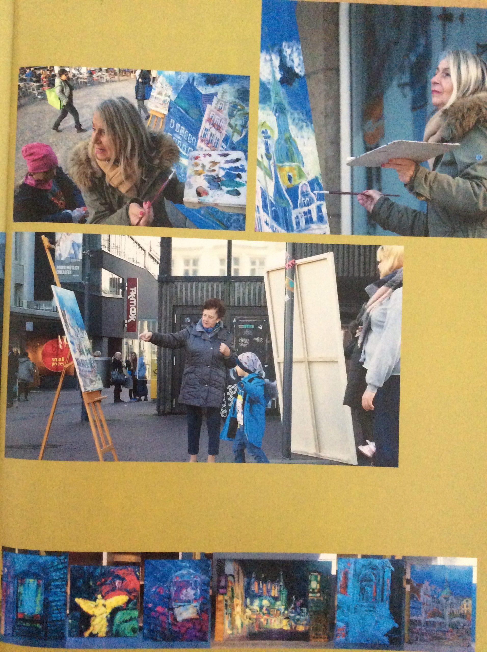Malen auf dem Marktplatz